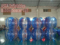 Various Styles Half Color Bubble Soccer Ball