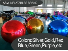 Crazy Inflatable Mirror Balloons Stage Decoration