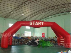 40 Foot Red Inflatable Double Arch