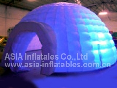 Double Layers Lighting Inflatable Tent