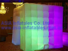 Lighting Inflatable Cube Tent