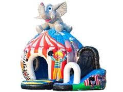 Elephant Disco Bouncy Castle