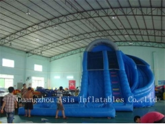 Inflatable Corkscrew Water Slide