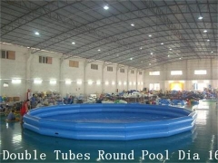 Dual Tubes Inflatable Rood Pool