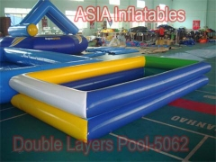 Dual Tubes Inflatable Square Pool