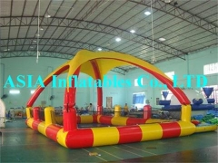 Inflatable Pool Tent with trampolines