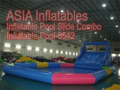 Inflatable Pool and Water Slide Combo