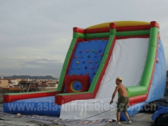 Inflatable Climbing Wall Slide
