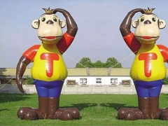 New Arrival Giant Custom Inflatable Monkey For Outdoor Advertising