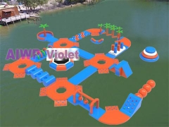 Violet Inflatable Water Park