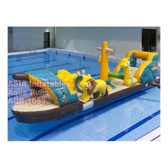 10m pirate ship aqua run challenge pool inflatable with - Inflatable pirate ship swimming pool ...