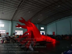 Inflatable Langouste & LED Lighting Giant Lobster
