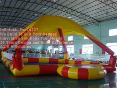 Inflatable Square Pool with Sunshade Tent