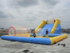 Pool with Zorb Ramp
