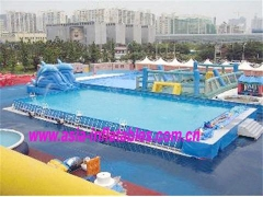 Large Metal Frame Swimming Pool Set