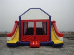 4 In 1 Dual Lane Bounce House Slide Combo