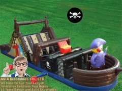 Inflatable Pirate Ship Obstacle Slide