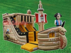 The Captain and Inflatable Pirate Ship