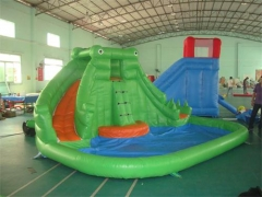 Blast Zone Splash Inflatable Water Slide