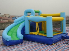 Inflatable Bounce House Curved Slide Combo