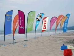 Advertising Pop up Flags Stand