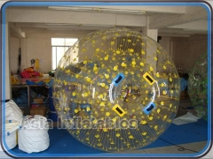 Yellow Dots Zorb Ball