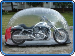 8 Foot Inflatable Motorcycle Cover and Storage