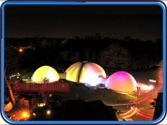 LED Light Inflatable Dome Structures for Corporate Event