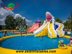 Inflatable shark Slide Water Park