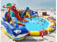 Inflatable Big Shark Water Park