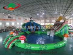 Inflatable Water Water Pool Slide