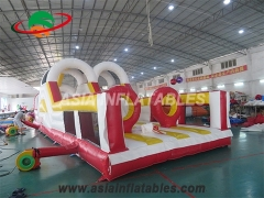 obstacle challenge, inflatable interactive games