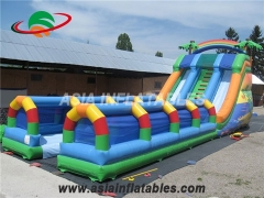 Palm Tree Dual Lane Inflatable Slide