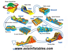 inflatable obstacle course sport games
