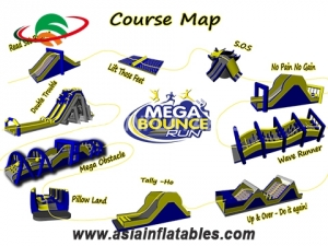 Outdoor running challenge inflatable obstacle