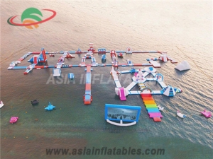 Stylish Subic Inflatable Folating Island Water Park