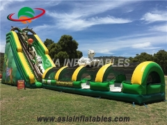 Jungle Lion Inflatable Slide