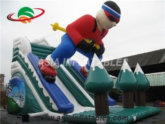 Inflatable Superman Dry Slide