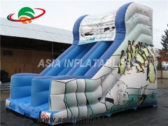 Inflatable Penguin Printing Dry Slide