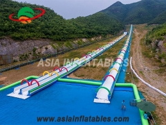 Inflatable double lane City Water Slide