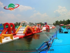 Stylish Inflatable Aqua Run Challenge Water Pool Toys