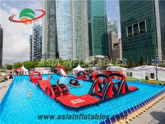 Aqua Run Challenge Inflatable Water Park for Pool