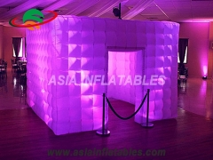 LED lighting inflatable photo booth wall
