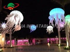 Hanging jellyfish aquarium led decoration