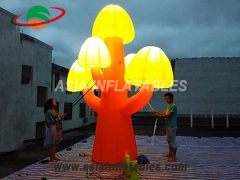 Led Inflatable Mushroom For Outdoor