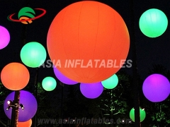 Multi-color inflatable led ground ball