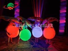 Inflatable interactive ball with led light