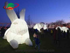 Inflatable Rabbit with LED Lights