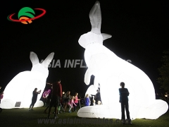 Colorful Inflatable Art Rabbit For Festival