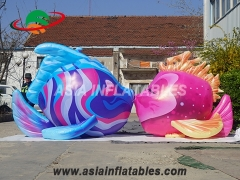 Led lighting ocean inflatable kiss fish
